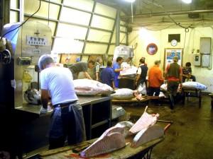 RONQUEO.- En esta sala se cortan y trocean los atunes