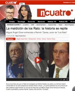 Entrevista de Miguel Ángel Oliver a Ramón Tijeras en Cuatro